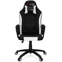 Fotele dla graczy, Fotel gamingowy ATILLA carbon biały dla graczy