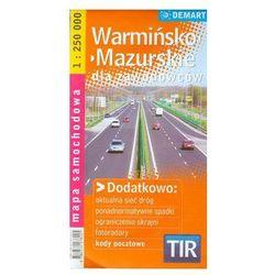 Warmińsko-mazurskie TIR mapa dla zawodowców (opr. kartonowa)