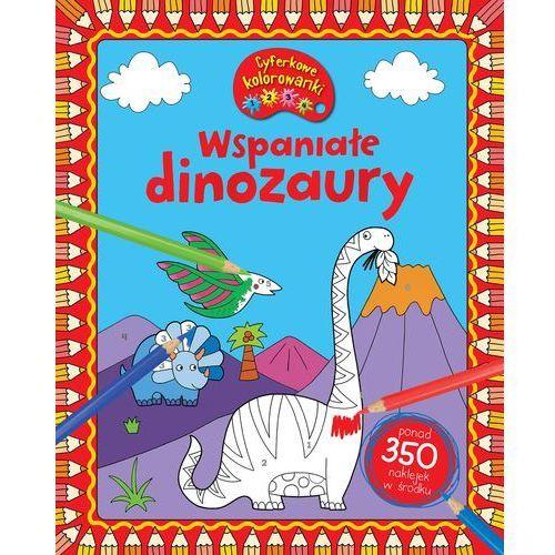 Kolorowanki, Wspaniałe dinozaury. CYFERKOWE KOLOROWANKI