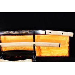 MIECZ SAMURAJSKI SHIRASAYA MARU STAL WYSOKOWĘGLOWA 1095, HARTOWANY GLINKĄ R785