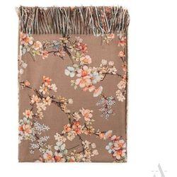 Szykowny szal damski Kwiat Wiśni jasny brąz - jasnobrązowy   beżowy   morelowy   niebieski