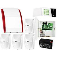 Czujki alarmowe, System alarmowy: Płyta główna CA-4 VP + Manipulator CA-4 VKLED + 4x Czujnik ruchu + Akcesoria