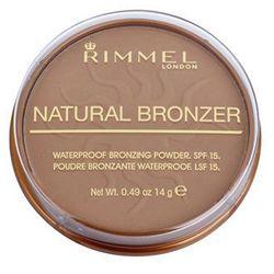 Rimmel Natural Bronzer wodoodporny puder brązujący wodoodporny puder brązujący SPF 15 odcień 021 Sun Light 14 g