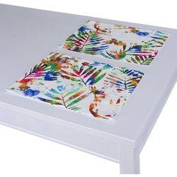 Dekoria Podkładka 2 sztuki, kolorowe liście na białym tle, 40 x 30 cm, New Art