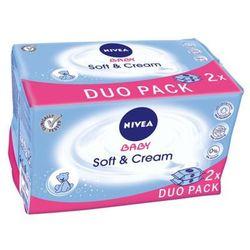 NIVEA 2x63szt Baby Soft&Cream Chusteczki nawilżane dla dzieci i niemowląt