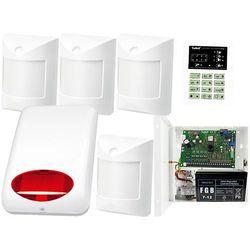 System alarmowy: Płyta główna CA-6 P,Manipulator CA-6 KLED-S, 4x Czujka wewnętrzne Amber, Sygnalizator Zewn., Akcesoria
