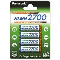 Akumulatorki, 4 x akumulatorki Panasonic R6 AA Ni-MH 2700mAh (blister)