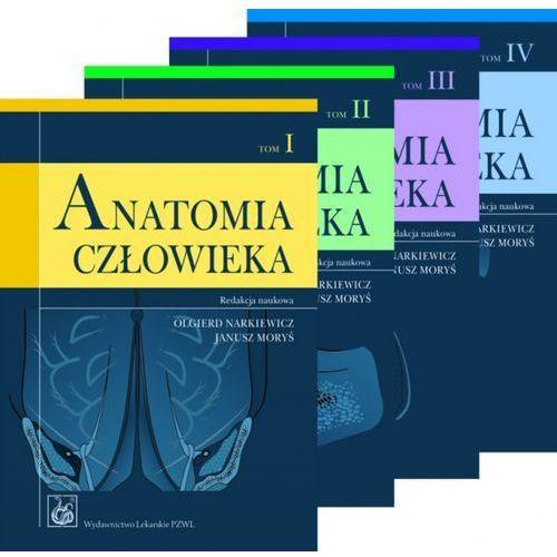 Leksykony techniczne, ANATOMIA CZŁOWIEKA NARKIEWICZ KOMPLET T. I-IV (opr. miękka)