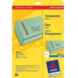 Etykiety adresowe AVERY A4 (do paczek i przesyłek) do drukarek atramentowych - X06548