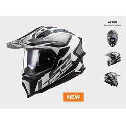 KASK MOTOCYKLOWY ENDURO OFF ROAD KASK MX701 ALTER MATT BLACK WHITE nowość 2021 roku