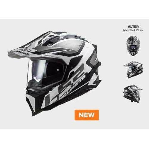 Kaski motocyklowe, KASK MOTOCYKLOWY ENDURO OFF ROAD KASK MX701 ALTER MATT BLACK WHITE nowość 2021 roku