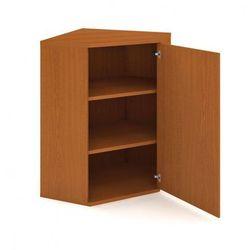 Szafka Select narożna wewnętrzna z drzwiami, prawa, 800 x 400 x 1152 mm, czereśnia