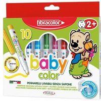 Mazaki i flamastry, Mazaki Babycolor od 1 roku 10 kolorów FIBRACOLOR