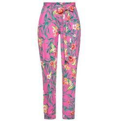 Spodnie jogger z kolekcji Maite Kelly bonprix czerwony rododendron - biały