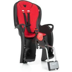 Fotelik rowerowy Hamax Sleepy czarny, czerwona wyściółka