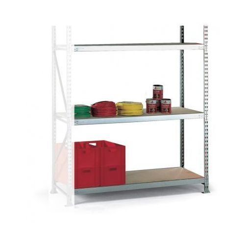 Regały warsztatowe, Regał półkowy, nośność 500 kg, 2500x2600x1050 mm, dodatkowy