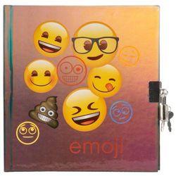 Pamiętnik metalizowany z kłódką Emoji 12