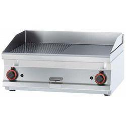 Płyta grillowa 1/2 gładka 1/2 ryflowana | 795x450mm | 1200W | 800x600x(H)280mm