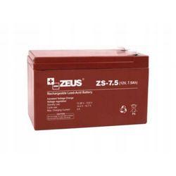 Akumulator 12V 7,5Ah do alarmu buforowy PPOŻ bezobsługowy AGM ZEUS ZS-7.5
