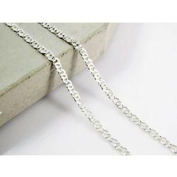 Srebrny (925) łańcuszek TYGRYSIE OKO 50 cm PREZENT