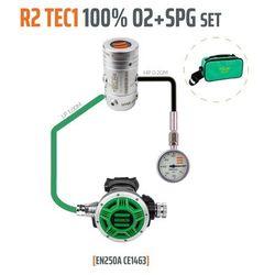 Tecline R2 TEC1 100% O2 M26x2 z manometrem, zestaw stage