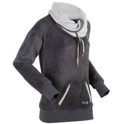 Bluza z polaru, długi rękaw bonprix szaro-matowy srebrny
