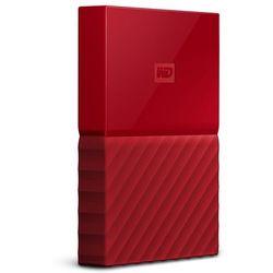 """WD My Passport 1TB 2,5"""" USB 3.0 (czerwony) - produkt w magazynie - szybka wysyłka!"""
