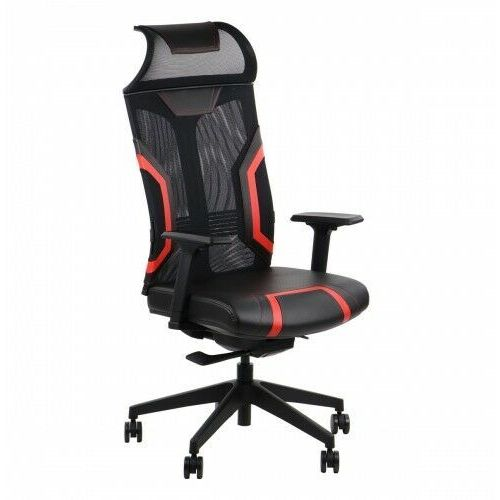 Fotele dla graczy, Fotel gamingowy obrotowy do komputera RYDER EXTREME BK/RD