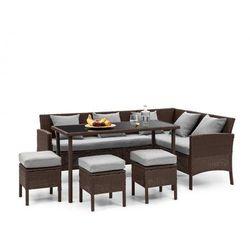 Blumfeldt Titania Dining Lounge Set Komplet mebli ogrodowych brązowy/jasnoszary