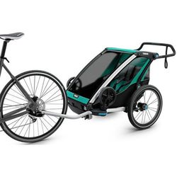 Thule Chariot Lite2 Przyczepka rowerowa, bluegrass 2019 Przyczepki dla dzieci Przy złożeniu zamówienia do godziny 16 ( od Pon. do Pt., wszystkie metody płatności z wyjątkiem przelewu bankowego), wysyłka odbędzie się tego samego dnia.