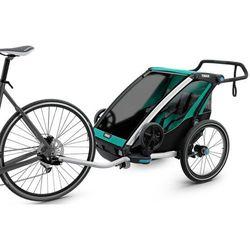 Thule Chariot Lite2 Przyczepka rowerowa zielony/czarny 2018 Przyczepki dla dzieci Przy złożeniu zamówienia do godziny 16 ( od Pon. do Pt., wszystkie metody płatności z wyjątkiem przelewu bankowego), wysyłka odbędzie się tego samego dnia.