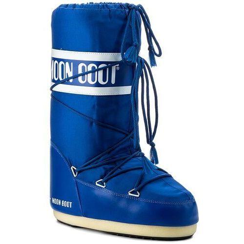 Śniegowce damskie, Śniegowce MOON BOOT - Nylon 14004400075 Electric Blue D