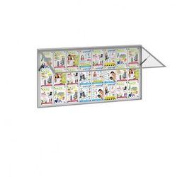 Zewnętrzna gablota, odchylane drzwi, 2000 x 1000 mm