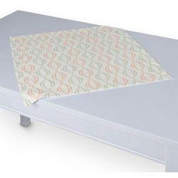 Dekoria Serweta 60x60 cm, szaro-łososiowe fale na białym tle, 60 x 60 cm, Geometric