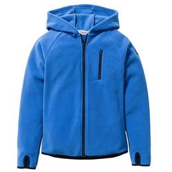 Bluza chłopięca z polaru z kontrastowymi elementami bonprix lodowy niebieski - ciemnoniebieski