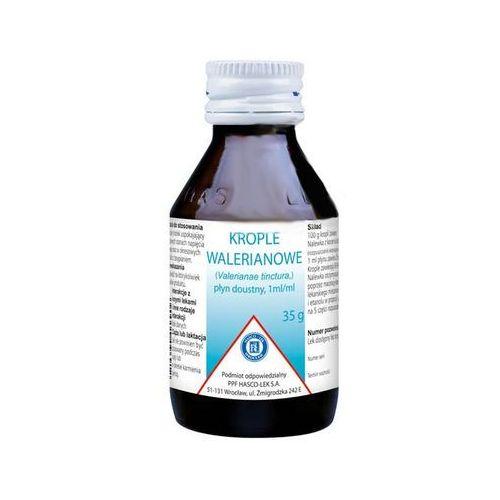 Leki uspokajające, Krople walerianowe płyn doustny - 35 g