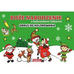Boże Narodzenie z bałwankiem Oskarem - Obrus do kolorowania