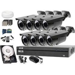 Zestaw do monitoringu: Rejestrator BCS-XVR0801, 8x Kamera LV-AL60MVT, 1TB, akcesoria