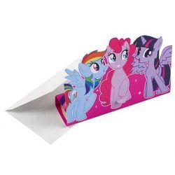 Zaproszenia urodzinowe z kopertami My Little Pony - 8 szt.