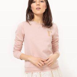Bawełniana bluza z okrągłym dekoltem