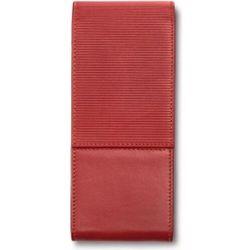 Etui na pióro lub długopis lamy prążkowane czerwone z 3 przegródkami