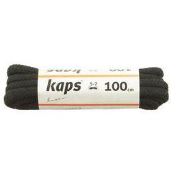 KAPS sznurowadła 100 cm 09_100_300_0091 czarny, sznurowadła bawełniane, okrągłe, grube - Czarny