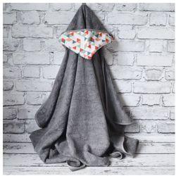 Bambusowy Ręcznik z Kapturem, Kaleidoscope / Szary, 90x130 cm, CAMPHORA STUDIO