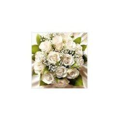 Karnet kwiatowy kwadrat bukiet biały FF29