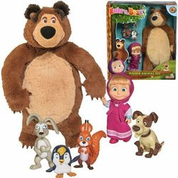 Masza i Niedźwiedź zestaw ze zwierzętami
