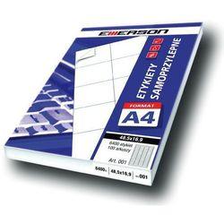 Etykiety 190 X 61,0 mm, 4 szt/A4 EMERSON uniwersalne (G) - X06645