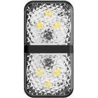 Drzwi samochodowe, Baseus zestaw 2x ostrzegawcza lampka LED do drzwi samochodu czarny (CRFZD-01) - Czarny