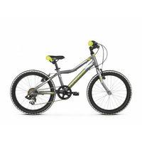 """Rowery dziecięce i młodzieżowe, Rower Kross Hexagon Mini 1.0 SR 20"""" GRA/LIM/SRE"""