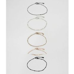 ASOS Chain Bracelet Pack In Mixed Metal Finish - Multi