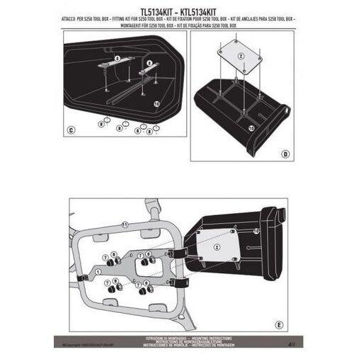 Skrzynki narzędziowe, Kappa ktl5134kit mocowanie skrzynki narzędziowej ks250